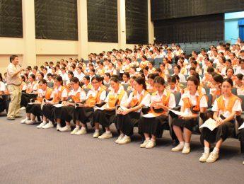 บรรยากาศการฝึกซ้อมพิธีไหว้ครู  ประจำปีการศึกษา 2559