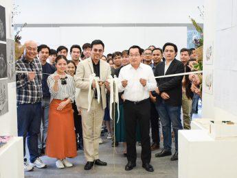บรรยากาศพิธีเปิด งานแสดงเปิดบ้าน ภาควิชาออกแบบตกแต่งภายใน คณะมัณฑนศิลป์
