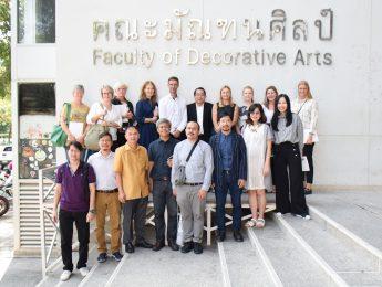 ผู้แทนจากกลุ่มสถาบันการศึกษา นักออกแบบ และผู้ประกอบการชาวเดนมาร์ก เข้าเยี่ยมชมการเรียนการสอนด้านการออกแบบของคณะฯ