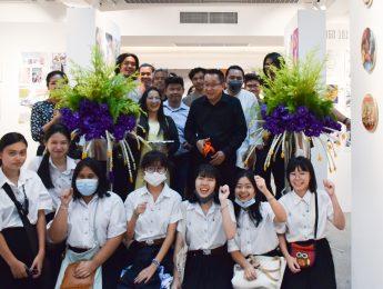 พิธีเปิดนิทรรศการผลงานพื้นฐานมัณฑนศิลป์ รายวิชาแกน ปีการศึกษา 2563